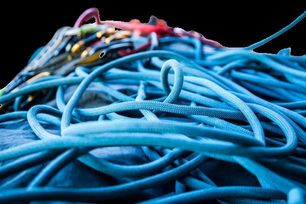 Immagine tante corde di colore blu