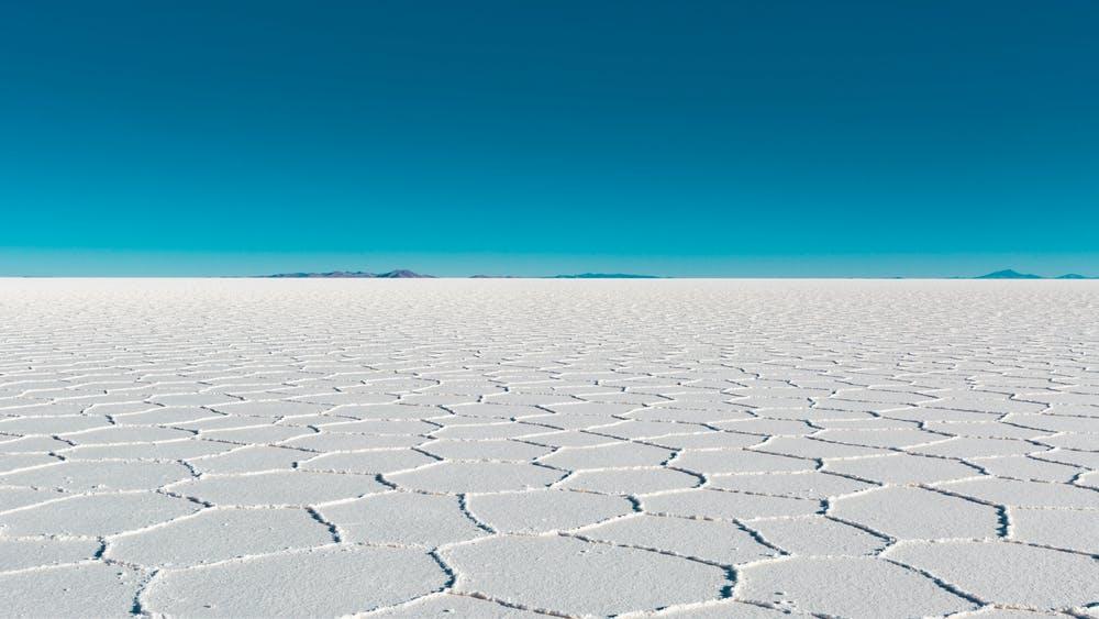 Vista di una distesa di ghiacciai